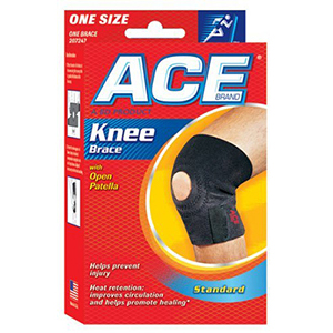 Ace Knee Brace with Open Patella, One Size, 1 ea