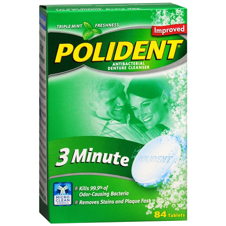 Polident Double Action Denture Cleanser, Tablets, 84 ea