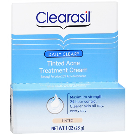 Clearasil Acne Treatment Cream, Tinted, 1 oz