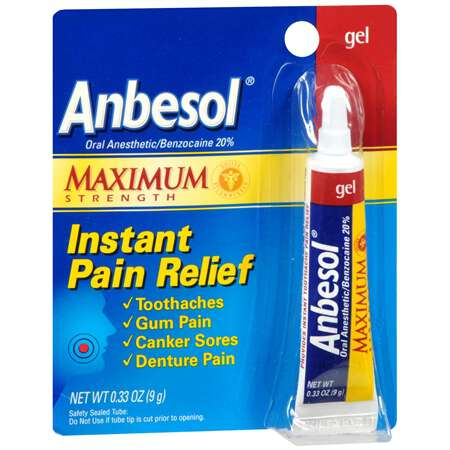 Anbesol Maximum Strength Oral Anesthetic Gel, .33 oz