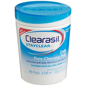Clearasil Stayclear Daily Pore Cleansing Pads, 90 ea