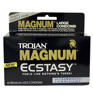 Trojan Magnum Ecstasy, Premium Latex Condoms, 10 ea 213993