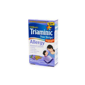 Triaminic Allergy Thin Strips Grape Flavor, 14 ea