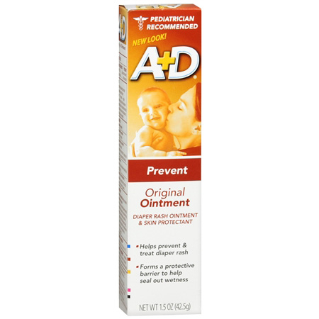 A+D Original Diaper Rash Ointment & Skin Protectant 1.5oz.