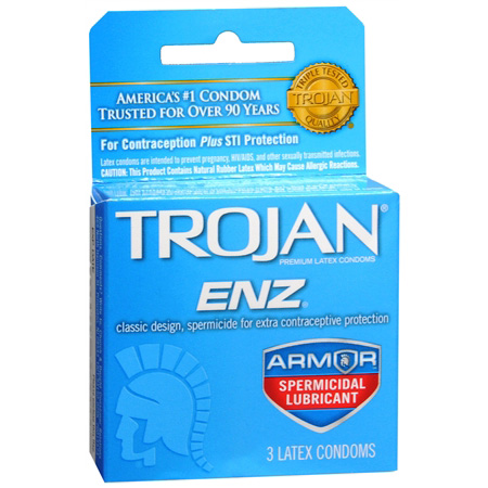 Trojan Condoms Trojan Enz Spermicidal 3 Pack Condoms 261909