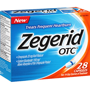 Zegerid OTC acid reducer capsules for heartburn relief - 28 ea