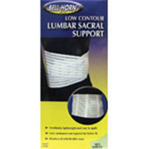 Bell-Horn Lumbo-Sacral Support Low Contour, White X-Large, 1 ea