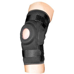 Bell-Horn ProStyle Hinged Knee Wrap, Open Patella, L/XL - Black