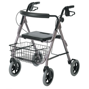 Guardian Envoy 480 Delux Rolling Walker - Rose
