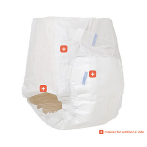 Attends Extra Absorbent Breathable Briefs 3 Pack/20S XL, # BRBX40