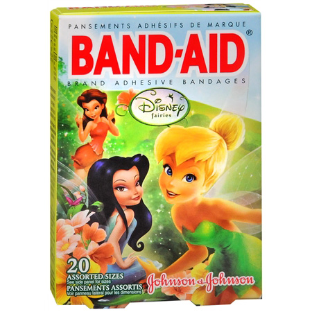 Band-Aid Children's Adhesive Bandages, Disney Fairies Assorted, 20 ea