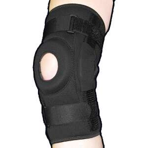 Bell-Horn ProStyle Hinged Patella Knee Wrap, Black, XXL/XXXL