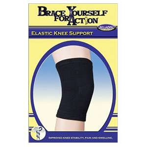 Bell-Horn Elastic Knee Support, Black, Medium