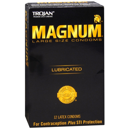 Trojan Magnum Lubricated Latex Condoms, Large 12 ea 284738
