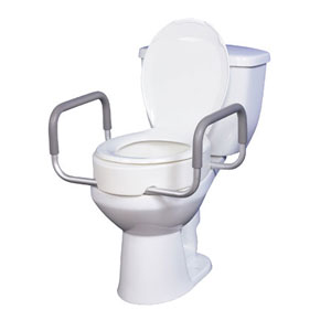 elevated toilet seat w remarms