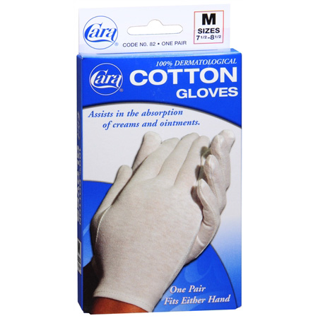 Medium Cotton Gloves Pair,#Cara82
