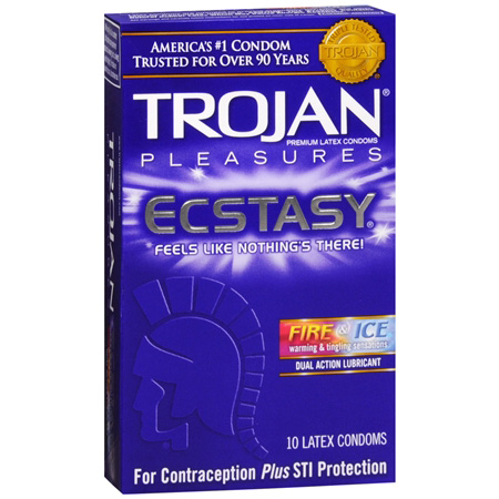 Trojan Condoms Pleasures Ecstasy Fire & Ice Condoms, 10 ea 286867