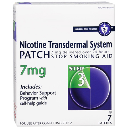 Habitrol Nicotine Transdermal System Step 3, 7mg Stop Smoking Aid, 7 ea